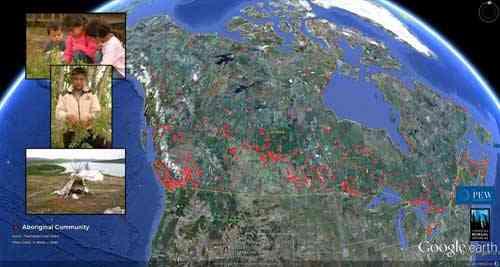 bosque boreal de Canadá, aborigenes