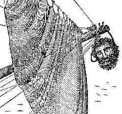 cabeza de Barbanegra colgada del bauprés