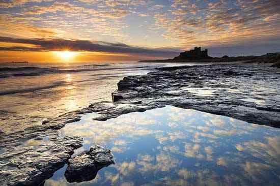 costa de Northumberland, castillo de Bamburgh