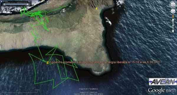 epicentro terremotos El Hierro 15-10-2011