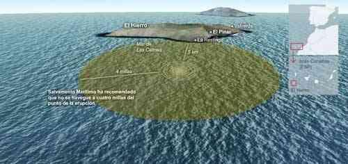 erupción submarina en El Hierro, octubre 2011