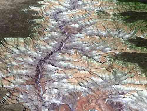 Gran cañón, imagen 3D ASTER