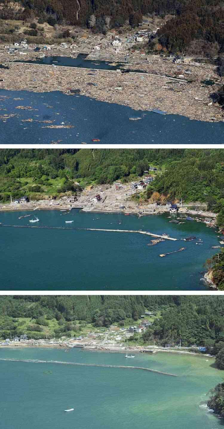 Ishinomaki, antes y después del tsunami