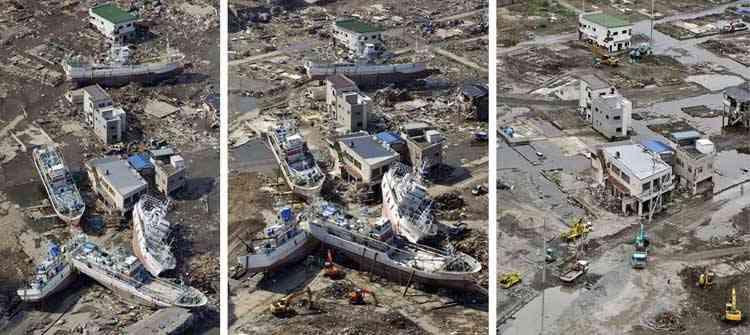 efectos del tsunami en kesennuma, Japón
