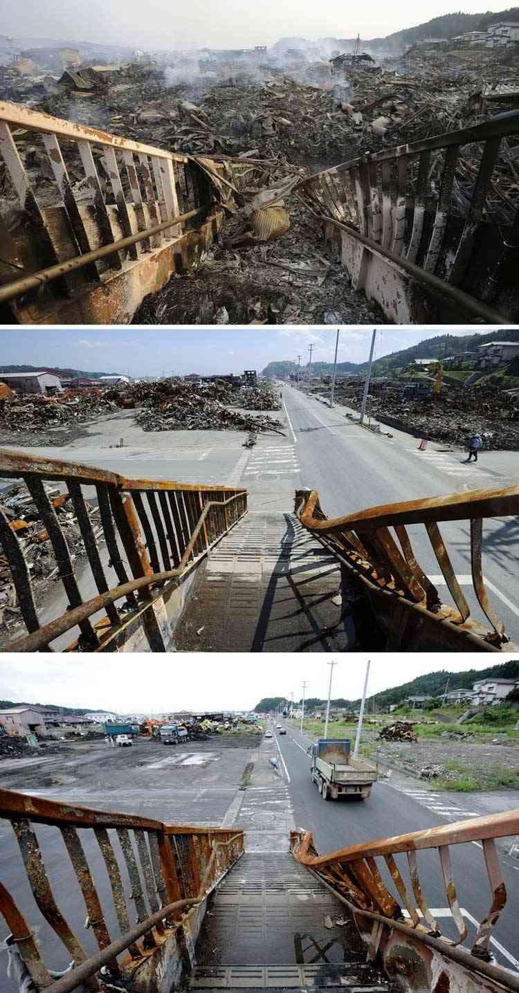 limpieza de escombros en kesennuma tras el tsunami