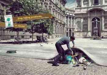 Legambiente, basura bajo la alfombra en la ciudad