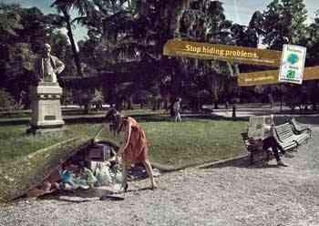 Legambiente, basura bajo la alfombra en el parque