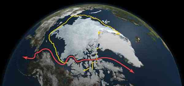 mínimo capa de hielo marino del Ártico septiembre 2011
