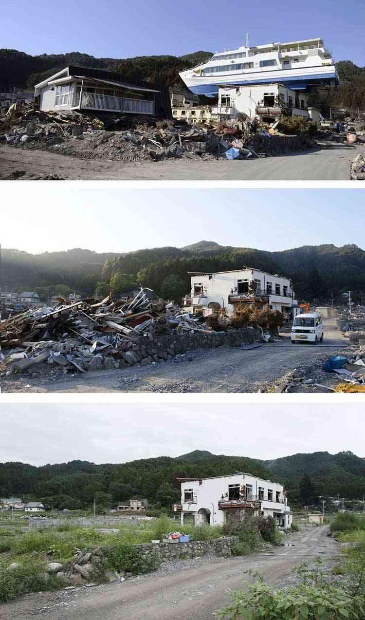 tsunami en Otsuchi, Japón
