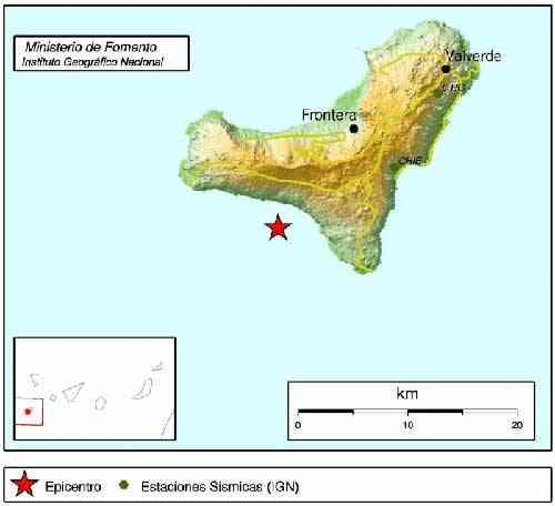 terremoto 3.8 en la isla de El Hierro, 29-11-2011