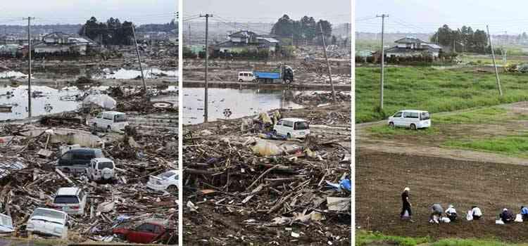 efectos tsunami en wakabayashi, Japón