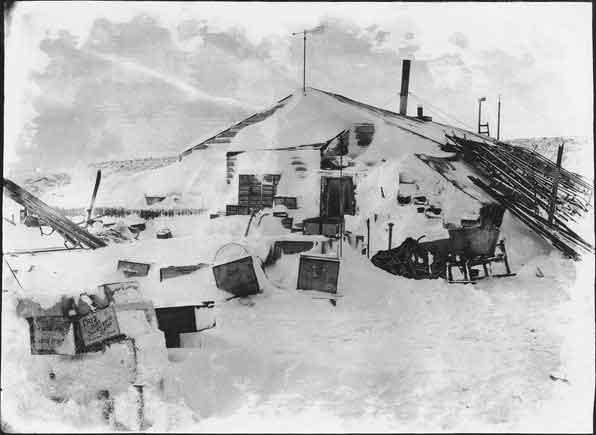 cabaña del cabo Evans, expedición Terra Nova, Scott