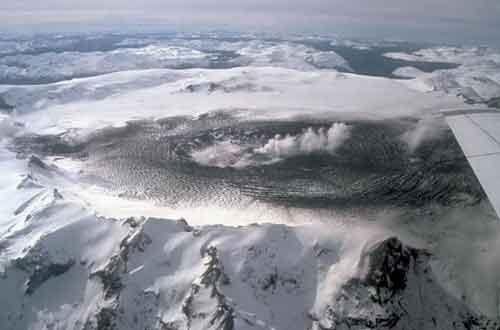cerro Hudson vista aérea de 1991