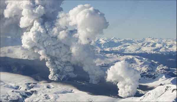 erupción del volcán Hudson en 1991