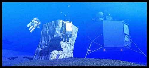 laboratorio Aquarius durante la misión NEEMO-15