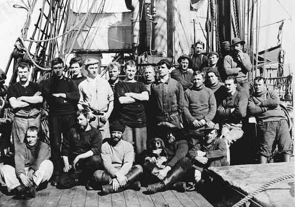 miembros de la tripulación del Terra Nova