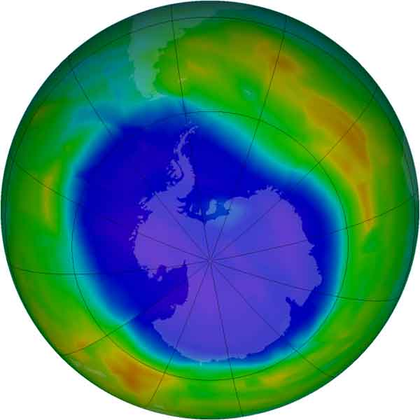 máximo agujero capa ozono 2011