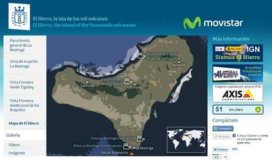 nueva página webcams Cabildo de El Hierro - Movistar