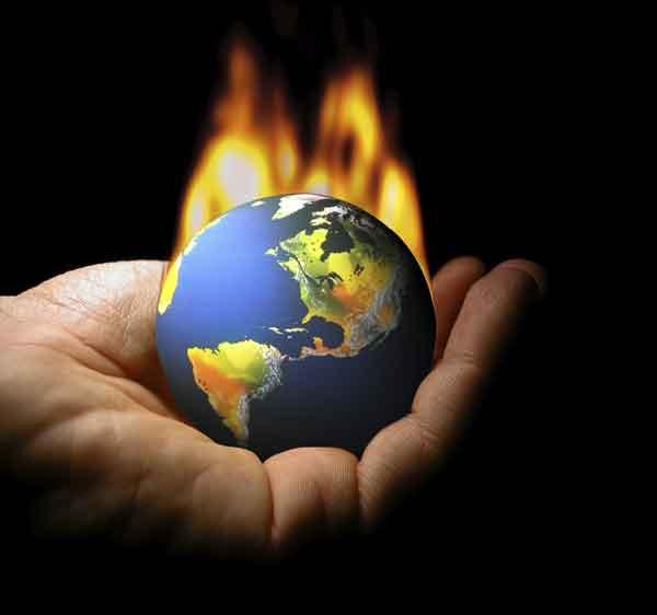 quema de combustibles fósiles y cambio climático