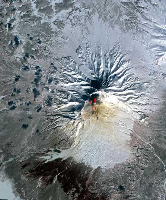 Volcán Sheveluch, Siberia