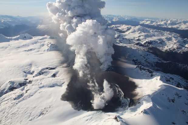 volcán Hudson, octubre 2011