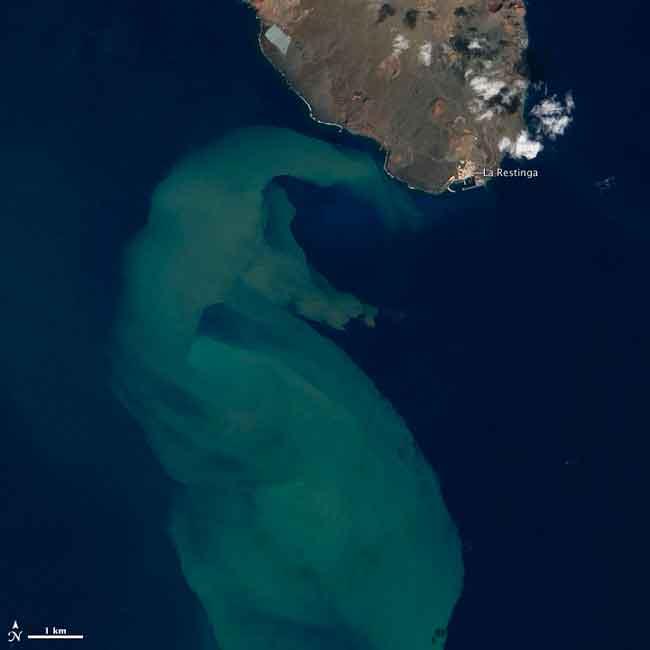 El Hierro, mancha en el Mar de las Calmas, La Restinga