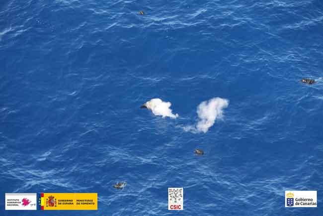 emisiones de piroclastos, La Restinga, El Hierro 4-10-2011