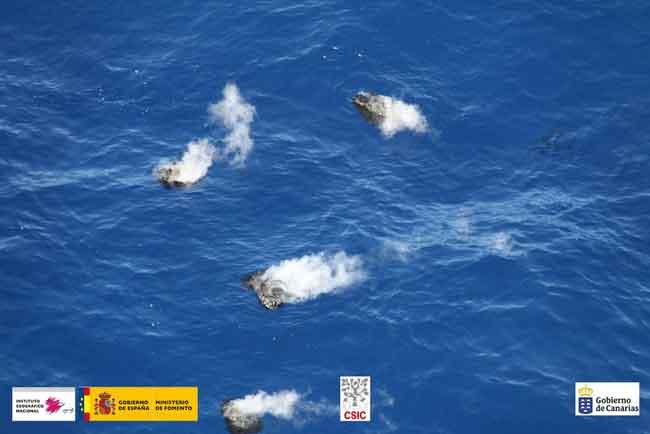 emisiones de piroclastos 'restingolitas' en el Mar de las Calmas, El Hierro