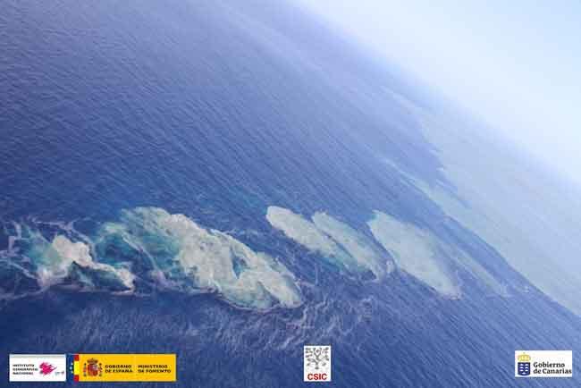 emisiones de gases y burbujas en La Restinga, El Hierro