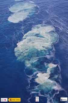 emisiones de burbujas en La Restinga, El Hierro - 4 de noviembre 2011