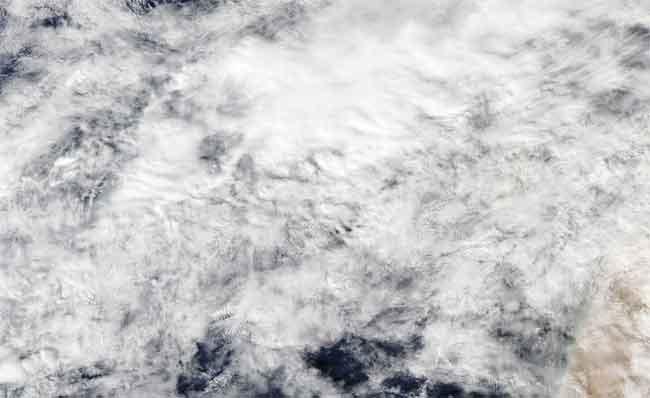 erupción de El Hierro desde el espacio, satélite Aqua 11-11-2011
