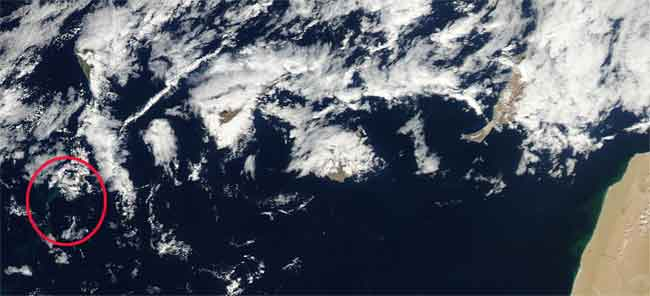 islas Canarias desde el satélite Aqua 14 de noviembre 2011