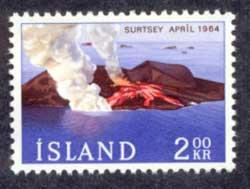 isla Surtsey, flujo de lava en un sello