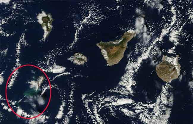 mancha en el mar, erupción El Hierro, Terra 07-11-2011