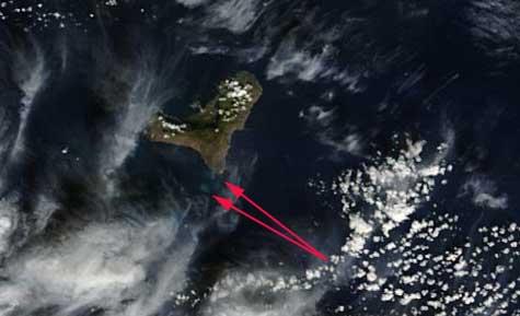 mancha erupción de El Hierro, Terra 26-11-2011