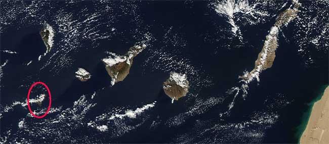 mancha erupción El Hierro, Terra 27-11-2011