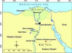 mapa de Egipto, Khashm el Raqaba