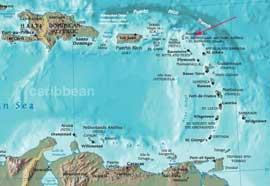 mapa situación de St Marteen en el Caribe