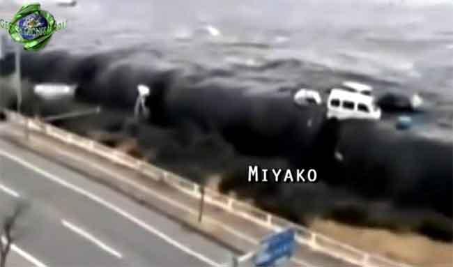 tsunami en Miyako, Japón 11 de marzo de 2011