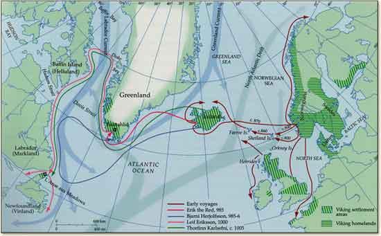 viajes vikingos a Norteamérica