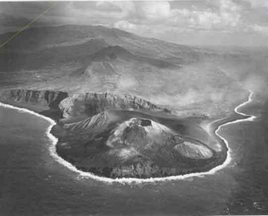 volcán Capelinhos, foto antigua