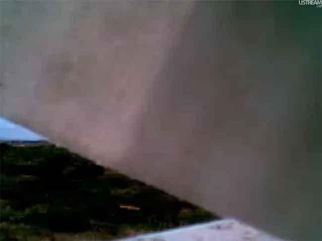 webcam en El Pinar, La Restinga tapada por la cortina