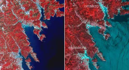 áreas afectadas por el tsunami de Japón, marzo 2011