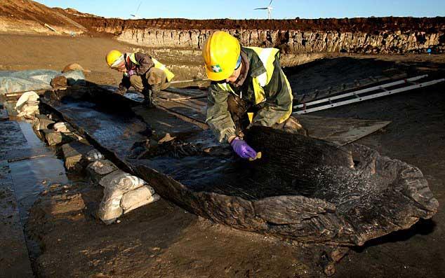 barco de la Edad de Bronce en el río Nene