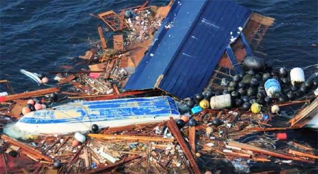 escombros marinos por el tsunami de Japón