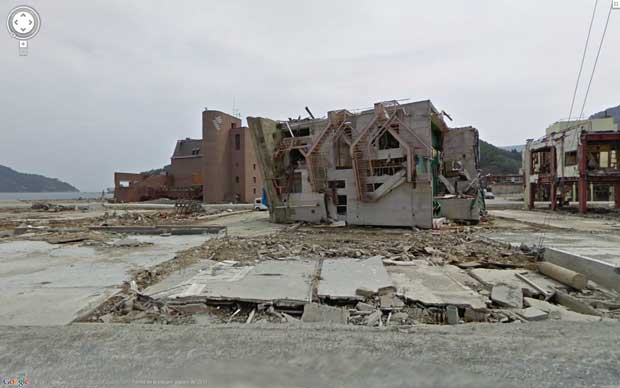 Google Street View antes y después del tsunami de Japón
