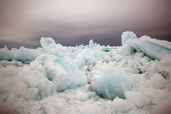 hielo marino en Canadá