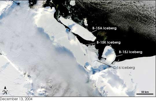 icebergs base MacMurdo en 2004