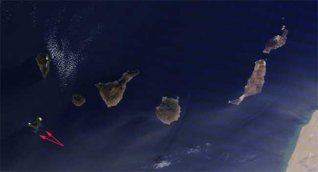 mancha erupción de El Hierro, Terra 01-12-2011