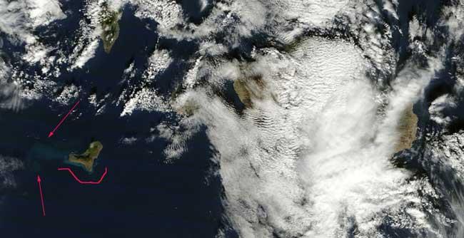 mancha erupción El Hierro, Terra 07-12-2011